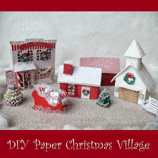 Tons Of Christmas Decorating: Ann-Kay Home: DIY Mini Paper Houses Part 2