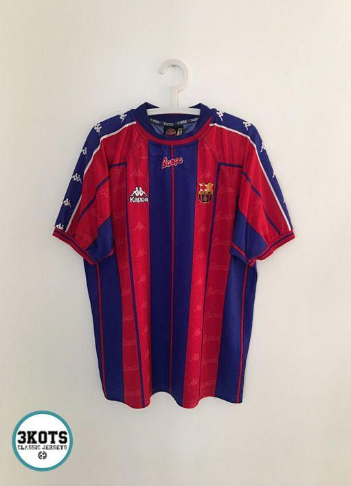 official photos 3785d 94d88 BARCELONA FC 1997/98 Home Football Shirt (XL) Soccer Jersey ...