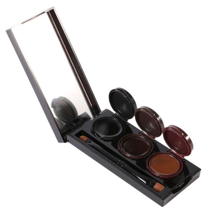 3 Colors/pcs Smudgeproof Waterproof Cosmetics Eye Brow Enhancers Music Flower Makeup Gel Lasting Eyebrow Powder & Eyeliner
