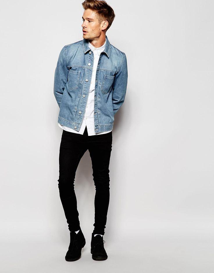 Image 4 of ASOS Denim Jacket in Slim Fit | : c a v a l h e i r o s ...