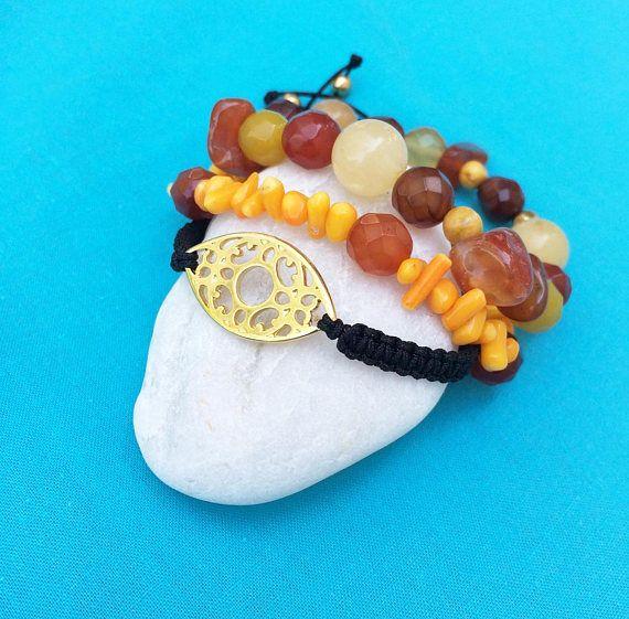 greek jewelry semi precious gemstones orange gemstone