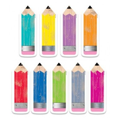 """Pencils 6"""" Designer Cut-Outs Upcycle Style"""