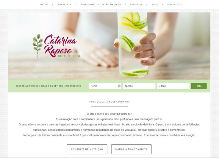 Com a Catarina desenvolvemos o seu posicionamento, centrado na Gestão Consciente de Peso, a identidadeVisual ( a cargo da querida Susana, do Design com Alma) e a construção do website.