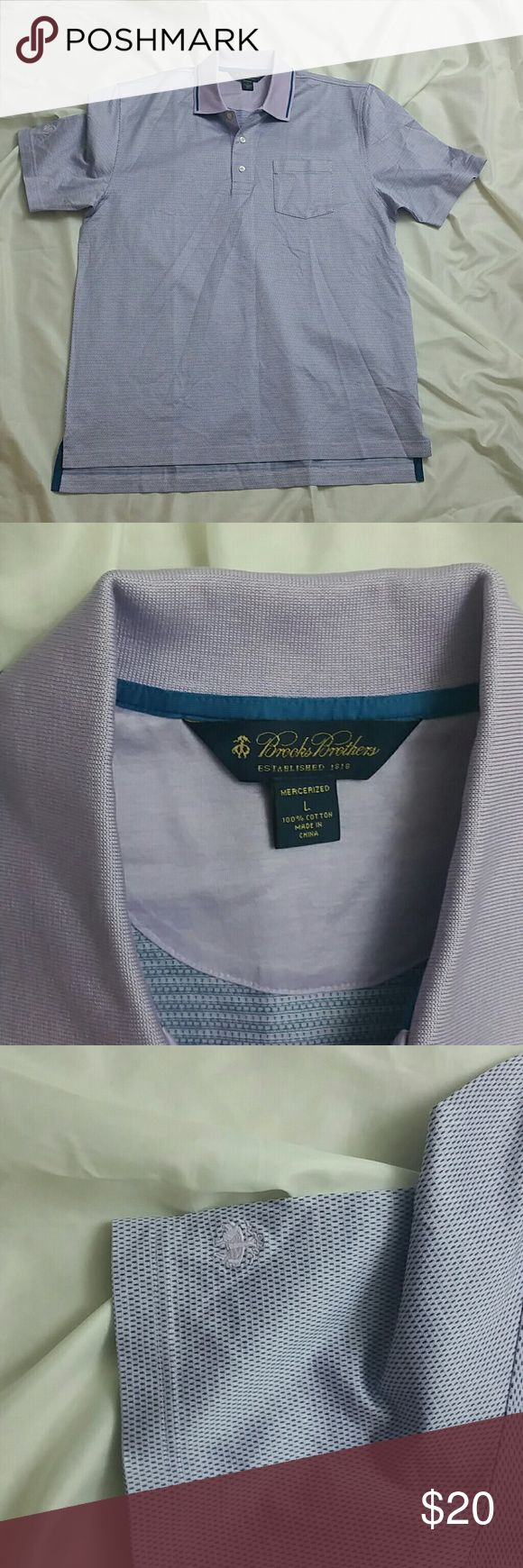 Brook Brothers Golf Polo Shirt size Large Purple New without Tags. Brook Brothers Golf Polo Shirt size Large Purple with front pocket Brooks Brothers Shirts Polos