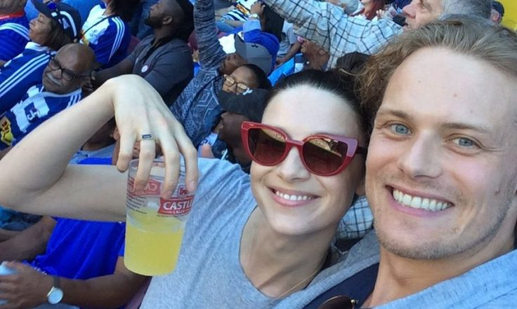 Sam Heughan, Caitriona Balfe Date Night: 'Outlander' Season 3 Couple Watches Rugby Game Together