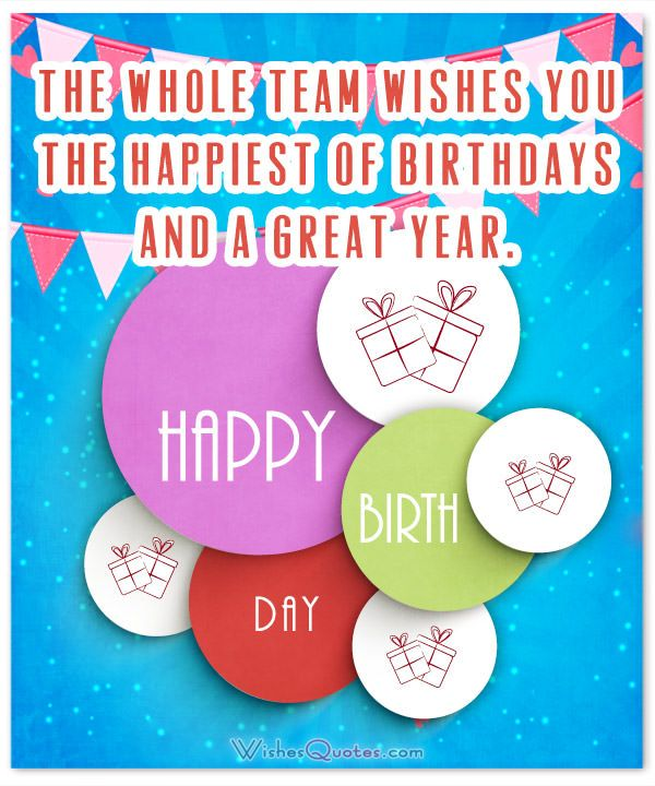 Team Wishes Happiest Of Birthdays