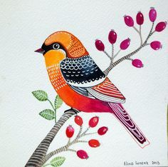 bird paintings whimsical - Google Search