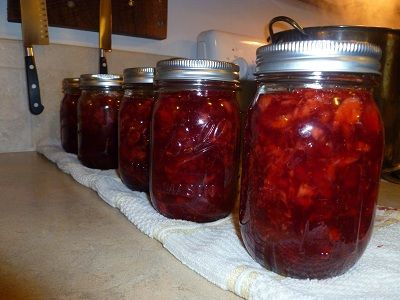 Strawberry Rhubarb Jam, recipe says to use concentrated lemon juice, I have always used fresh lemon, concentrate has an after taste that I can't stand.