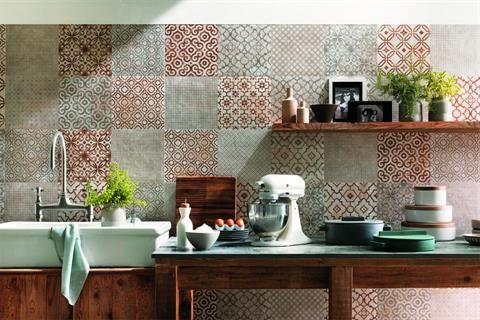 La revancha del patchwork  Distintas formas de aplicar la técnica del patchwork en pisos y paredes Foto:Archiproducts.com