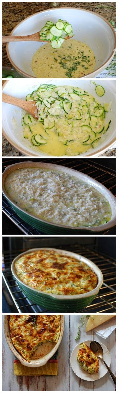 Zucchini Gratin - I think you could make a gratin out of anything and it would be delicious!