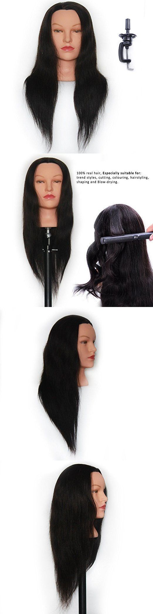 Other Salon and Spa Equipment: Mannequin Head 100% Human Hair 24 Hairdresser Training Head Manikin Cosmetology -> BUY IT NOW ONLY: $37.99 on eBay!