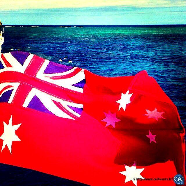 Séjour linguistique en Australie avec le CEI  #Australie #Australia #CEI #voyage #travel #colonie #sejourlinguistique #holiday #summer  #flag #red #blue #ocean #paradise