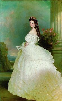 Empress Elisabeth of Austria - Elisabeth (1837 - 98 ) in 1865, painted by Franz Xaver Winterhalter