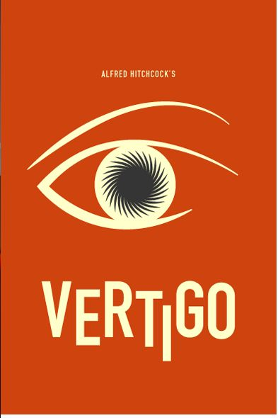 Vertigo (1958) ~ Minimal Movie Poster by Chris Tarampi ~ Hitchcock Series #amusementphile