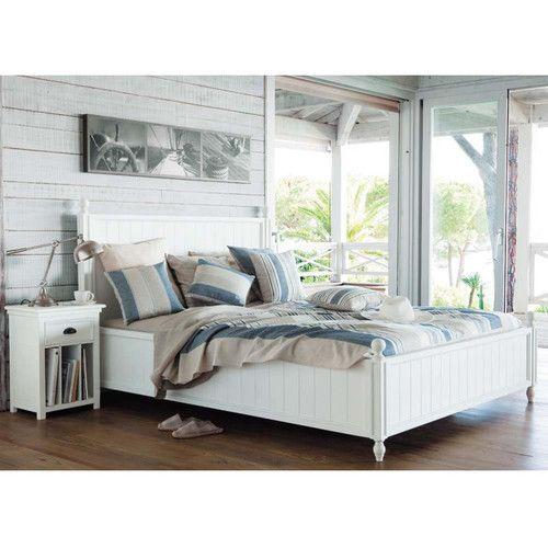 Holzbett weiß  Die besten 20+ Holzbett 160x200 Ideen auf Pinterest | Betten ...