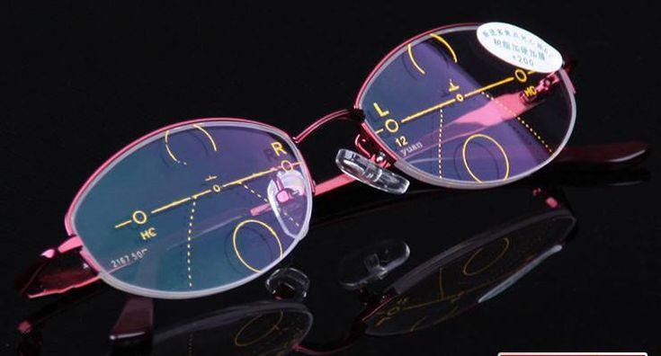 = CLARA VIDA = Intelligence Progressive Multifocal Commercial Reading Glasses Bifocal Red womens Ultra Light +1 +1.5 +2 TO +4