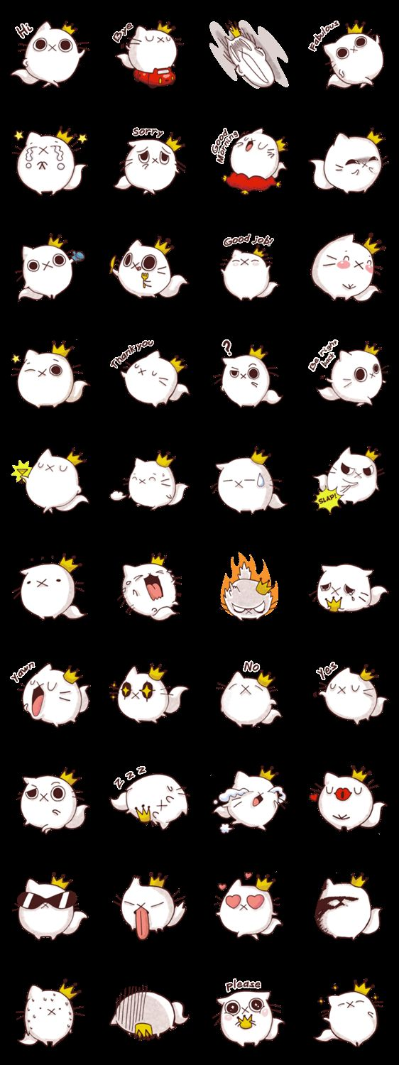 Fab Cat Line Stickers by Domz Agsaway - So Fabulous hahaha!