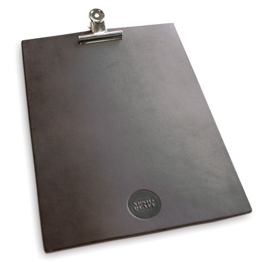 Saddle Hide Clip Boards. The Smart Marketing Group - SteamPunk themed drinks menus and menu covers. SteamPunk Inspired restaurant menus and menu presentation products.
