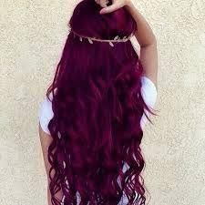 Image result for degradado en el cabello en rojo oscuro