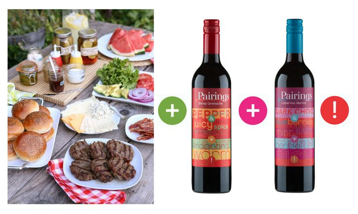 One-up the standard bbq + setup a build your own gourmet burger bar for your next party! Burgers pair brilliantly with our Shiraz Grenache + Cabernet Merlot wines, available in our limited edition Mixed Reds Tasting 6-Pack, free shipping through: https://m.danmurphys.com.au/list/pairings-wines