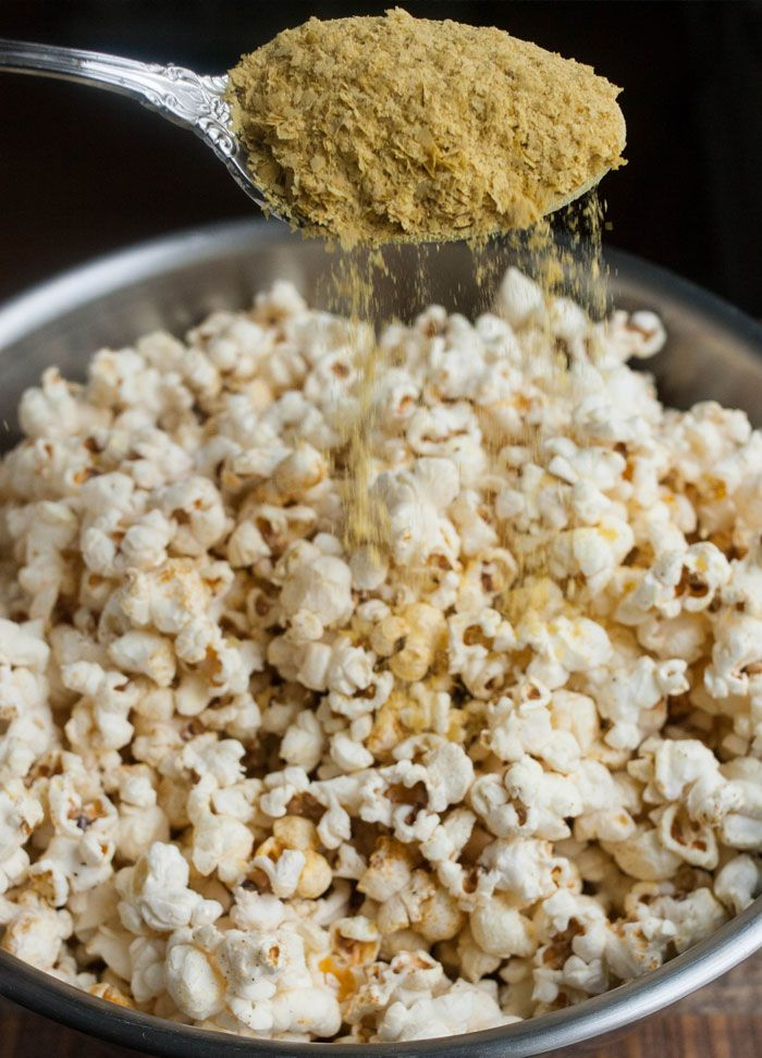 Easy Cheesy Vegan Popcorn with Nutritional Yeast!
