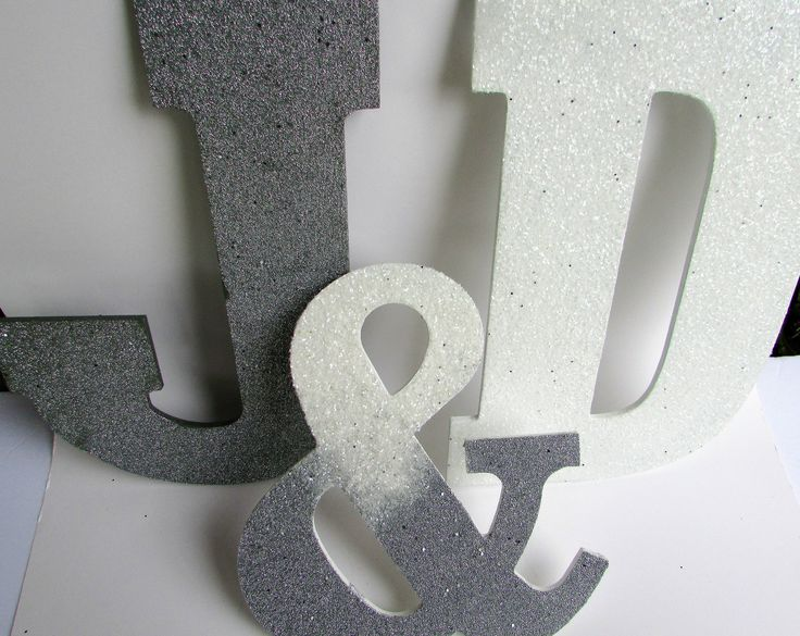 Silver Letters Wall Decor : Best ideas about glitter letters on