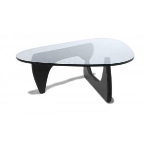 Tavolo da fumo con basamento in legno.    Piano in cristallo 15 mm.    Dal produttore al consumatore, creazione e produzione made in Italy.