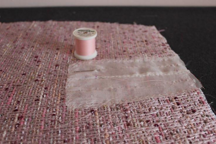 технология создания вытачек Шанель путём сутюживания участка ткани