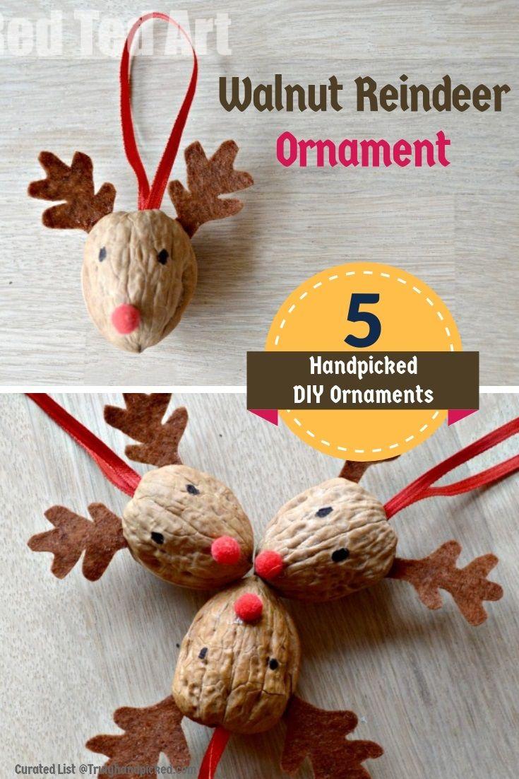 Walnut Shell Christmas Ornament Ideas Diy Christmas Ornaments