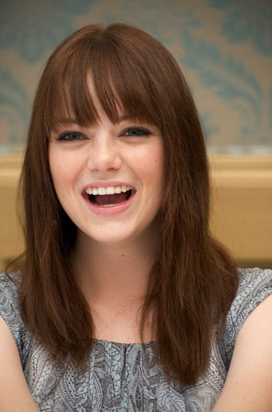 Emma Stone - She comes across as sincere, smart, funny and down to Earth, and I love the attitude she appears to have towards life. Paparazzi interrupting your lunch? Make insect faces at them.