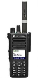 Motorola DP4800 is available in UHF and VHF frequency bands, the DP4000 Series is easy to use and features up to 32 channel capacity, five programmable buttons, emergency button, IP57 specifications for submersibility and FM intrinsically safe option.