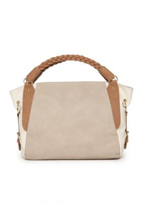 New Directions  Colorblock Hobo Bag - Taupe Combo - One Size