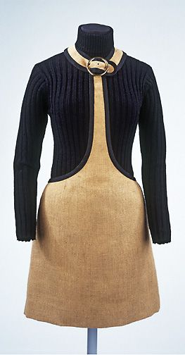 Museum at FIT Dress of the Day: Mary Quant skirt and sweater, 1965 (remade 1973) via Victoria and Albert Museum