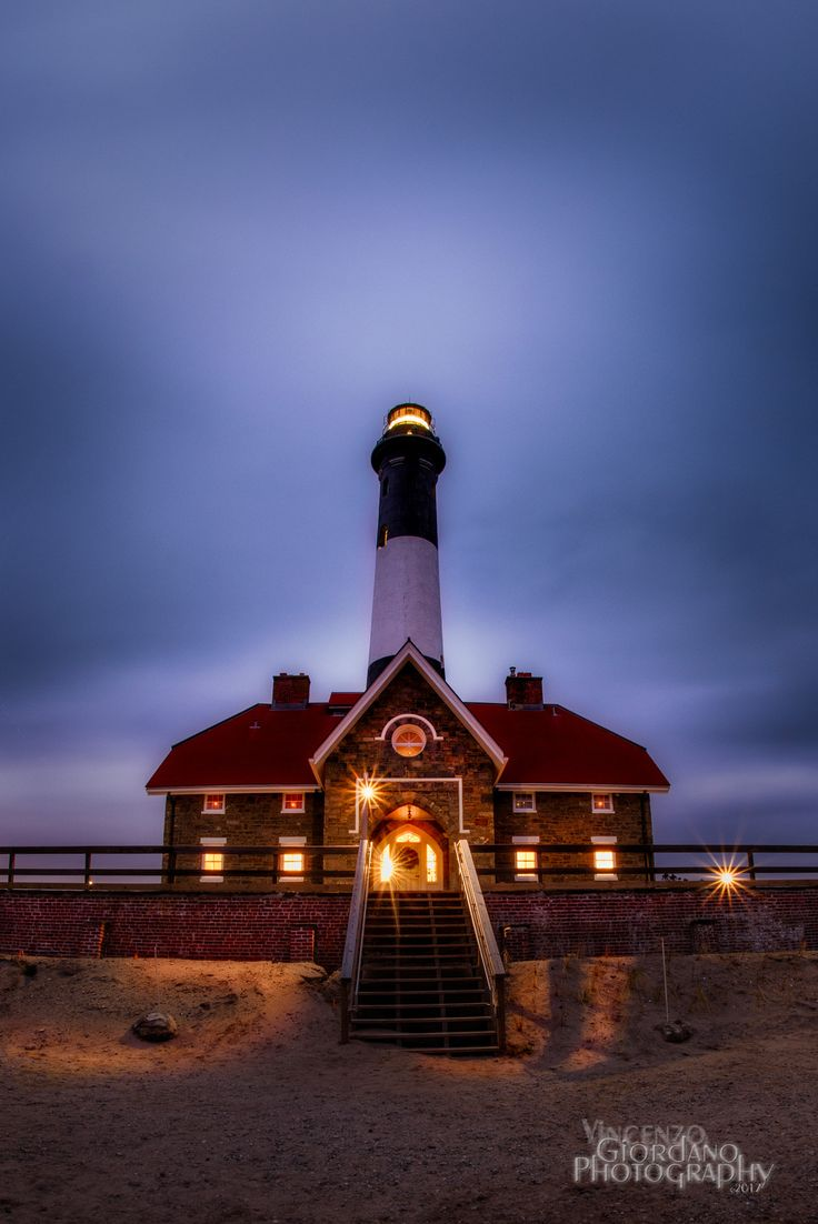 Moody Lighthouse - The slowly moving clouds enhanced the mood on this cloudy blue hour