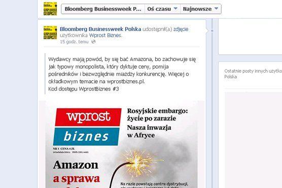"""Bloomberg Businessweek Polska"" promuje na Facebooku konkurencyjny ""Wprost Biznes"" (http://www.press.pl)"