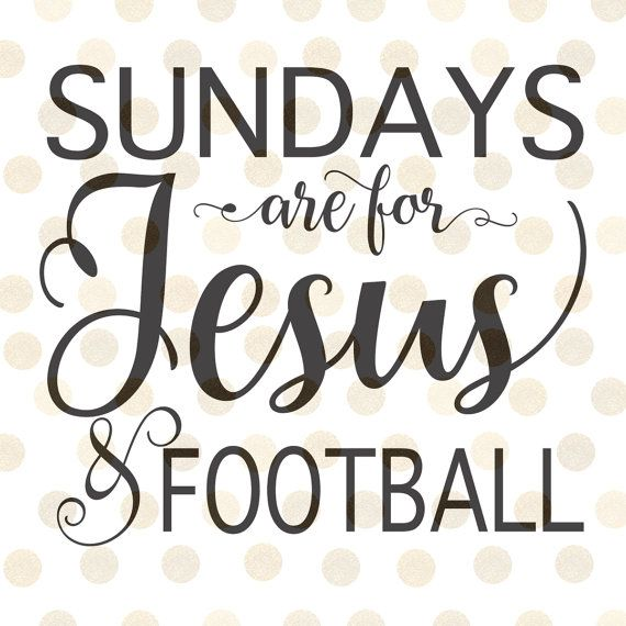 Sundays are for Jesus and Football Svg Football by CinnamonAndLime