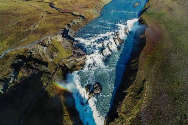 La cascata più famosa nell'Islanda