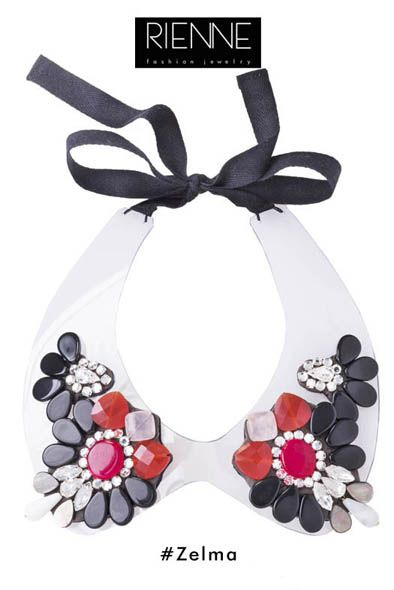 Rienne Creations statement jewelry spring/summer 2013 crystal collar