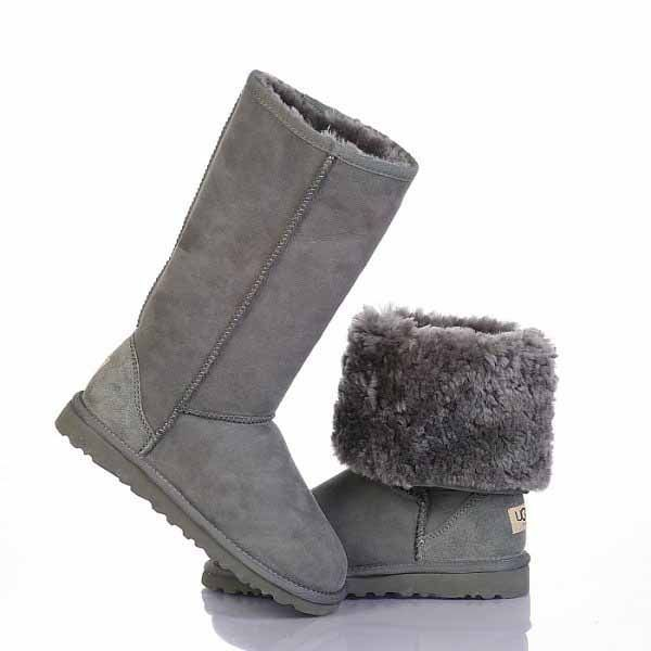 classic tall uggs grey