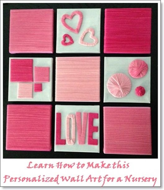 Learn How To Make The Wall Art Personalized DIY Wall Art For A Your Babyu0027s  Nursery