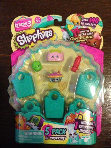 Shopkins Season 3 5 Pack In Hand Ready To Ship MOOSETOYS