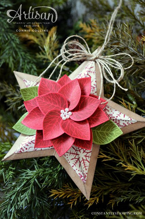 Christmas Poinsettia flower star using Thoughtful branches only available August 2016