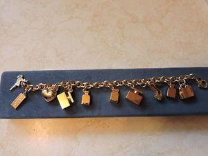 Dolce & Gabbana Perfume Bottle Heart & Shoes Charm Bracelet