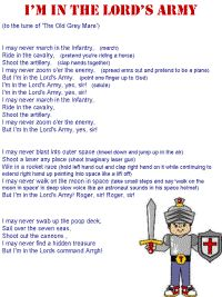 I'm in the Lord's Army! My kids just sang this all the way home from church. My heart is smiling! :)