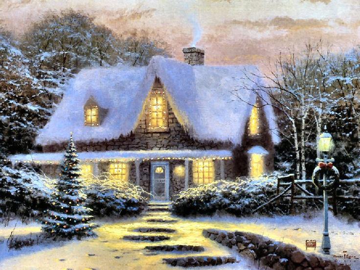 Authentic Thomas Kinkade Paintings
