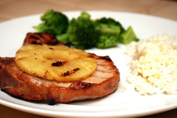 GF Grilled Pineapple Pork Chops. Great dish now that the weather's warming up!