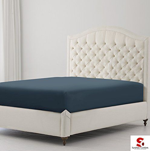 From 8.49 Sunshine Comforts Hotel Quality Percale Cotton Rich Extra Deep 40cm/16in Fitted Bed Sheets (double Charcoal)