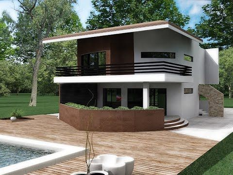 Modern house plans design with pictures and interior design. House CA07