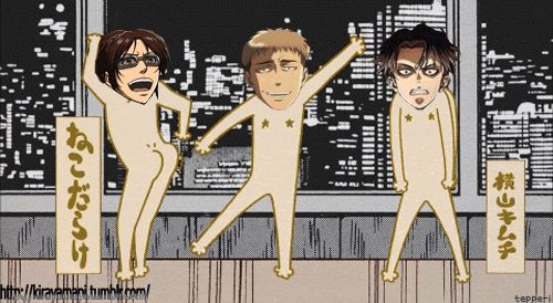 There is something seriously wrong with the attack on titan fandom. what is this gif? Levi...