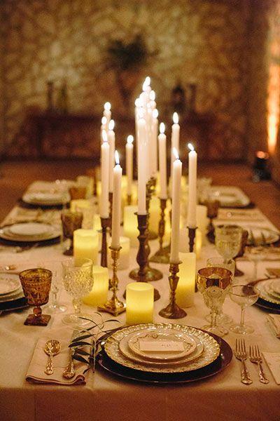 The budget-friendly centerpiece - Individual candlesticks